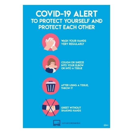 A3 A4 covid 19 virus preventionSign bold 04 - COVID-19 Signage