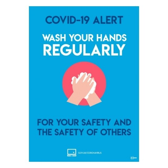 A4 Wash your hands reularly bold 07 - COVID-19 Signage