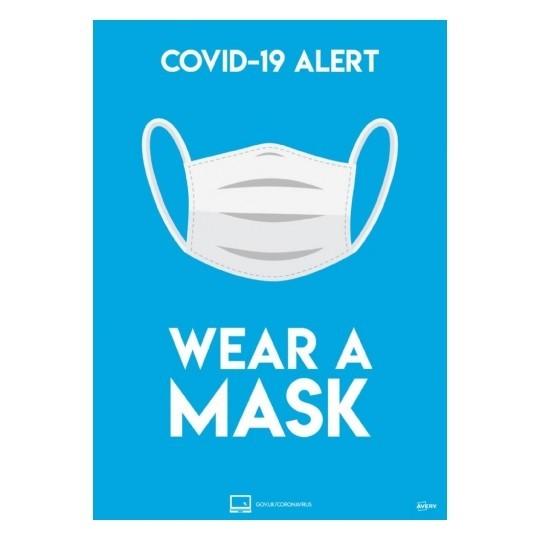 Wear a mask A4 bold 06 - COVID-19 Signage