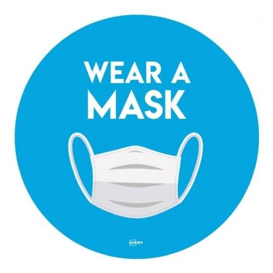 Wear a mask Round bold 08 - COVID-19 Signage